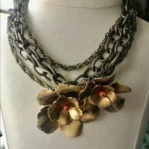 Citrine 16-18 inch gold necklace with or w/o pin.